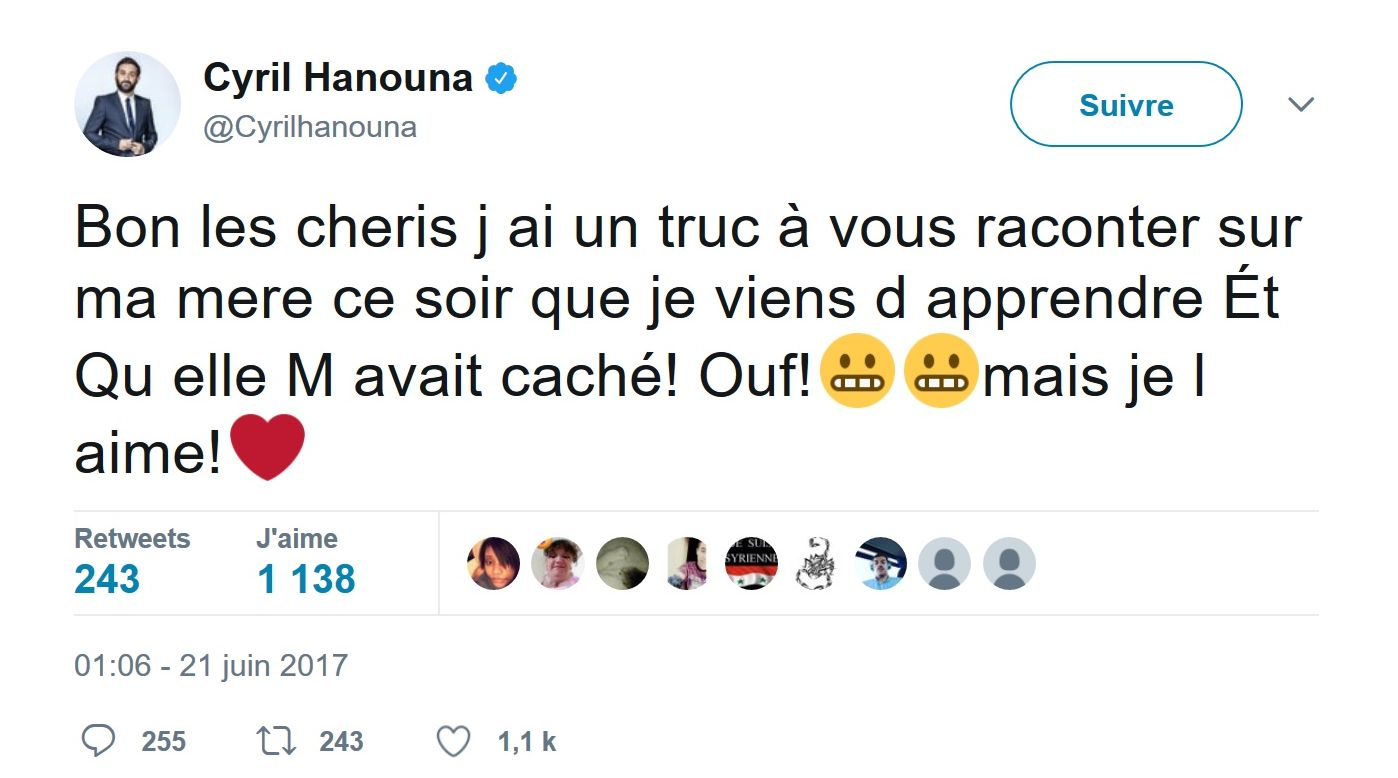 Cyril Hanouna : Sa mère entendue pour harcèlement sur un ancien collègue de son fils !