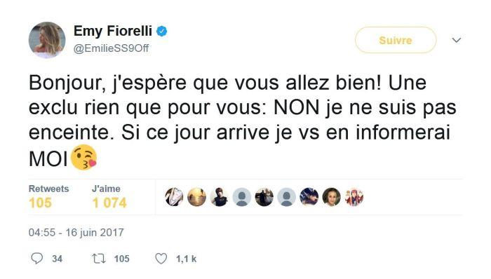 #SS9 : Emilie Fiorelli enceinte ? Elle répond !