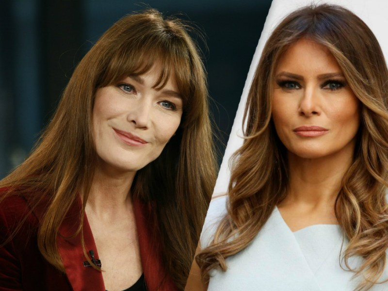 Carla Bruni tacle Melania Trump en comparant leurs photos de nus