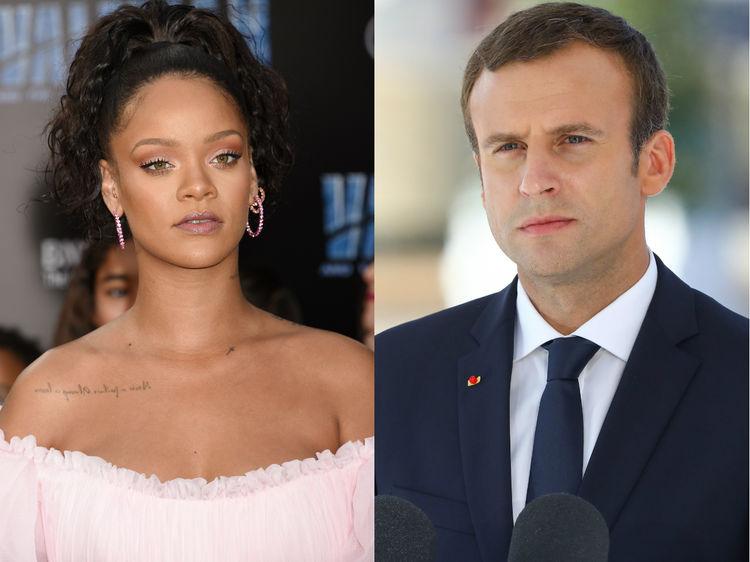 Rihanna s'est fait inviter à l'Elyssée pour parler affaires avec Emmanuel Macron