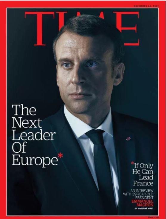 Emmanuel Macron : Le détail de la couverture du Time qui interloque les internautes