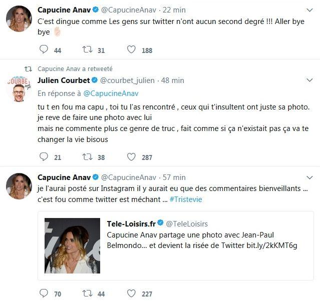 Capucine Anav : L'ex chroniqueuse se fait clasher après avoir posé avec Jean-Paul Belmondo