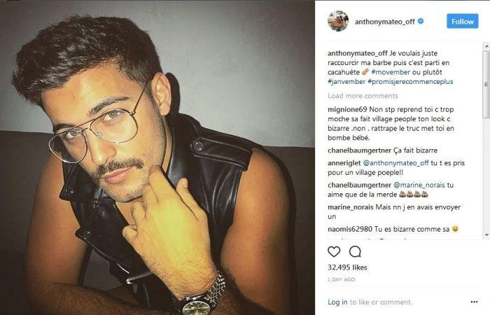 Anthony Matéo : Son nouveau look est très critiqué !