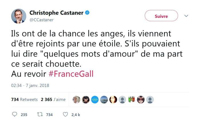 Mort de France Gall : La boulette de Christophe Castaner