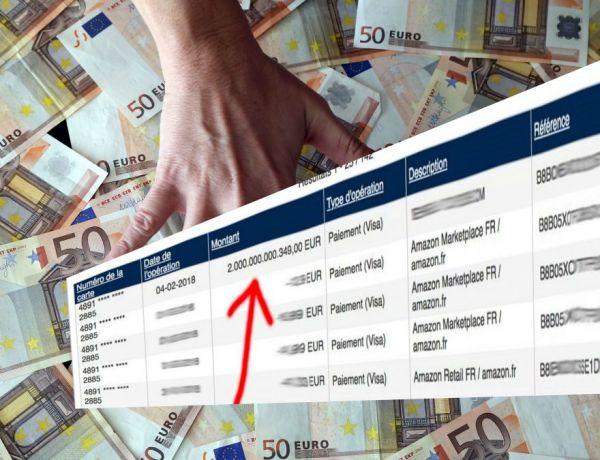 Un Belge surpris de constater qu'il a 2 000 milliards d'euros sur son compte en banque !