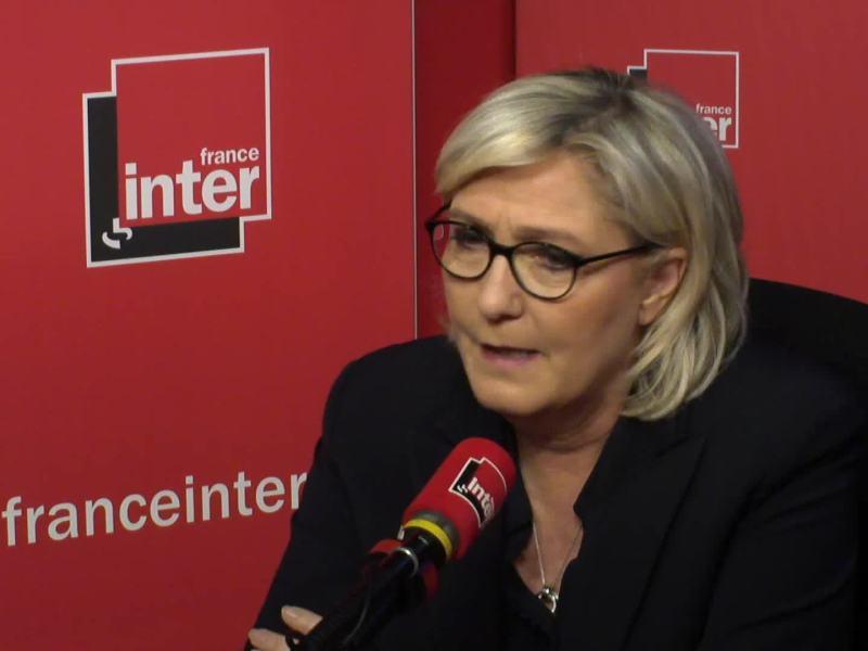 Marine Le Pen quitte précipitamment une émission de radio à cause d'une blague sur sa nièce !