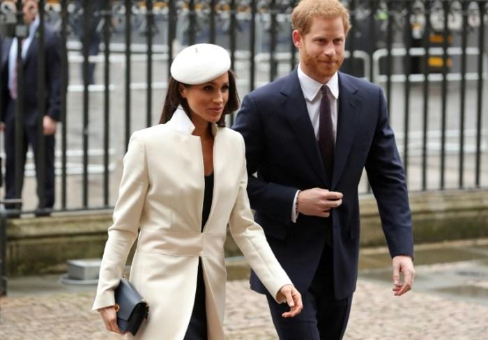 Le prince Harry et sa fiancée Meghan Markle à Londres, le 13 mars 2018