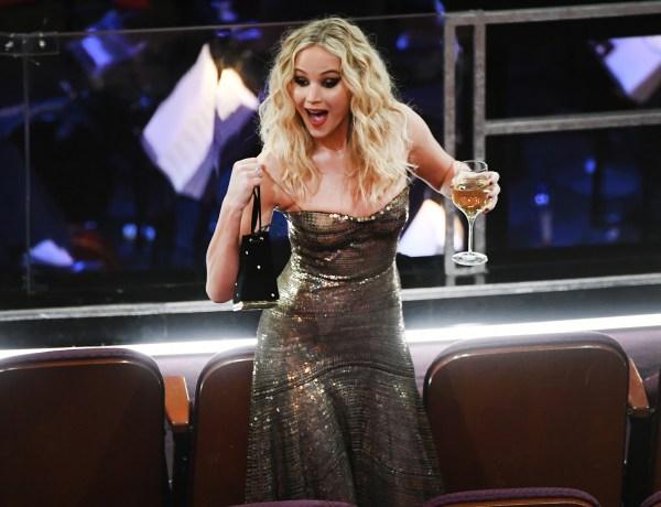 Jennifer Lawrence semblait bien éméchée pendant la 90ème cérémonie des Oscars !