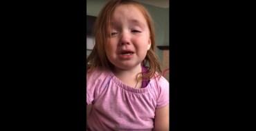 La grosse crise de cette fillette en manque de gaufre est hilarante