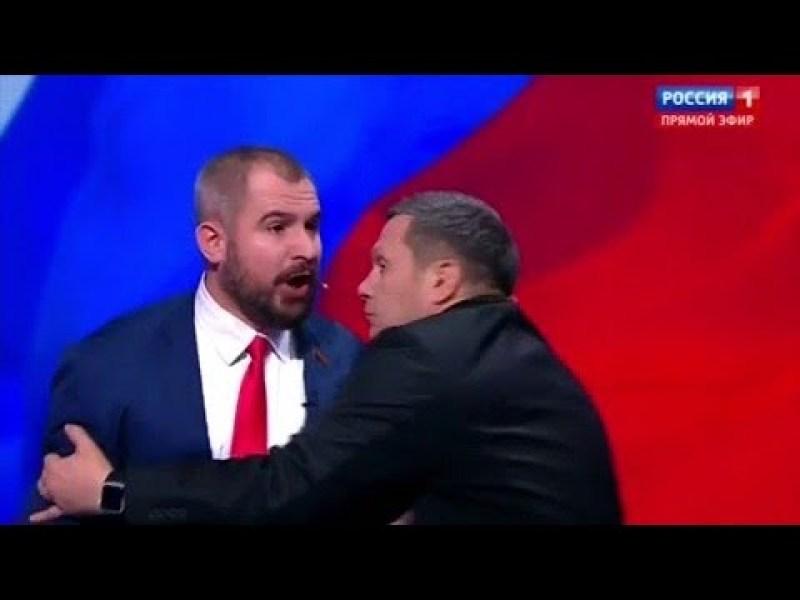 Russie : En plein débat à la télé, deux candidats à la présidentielle en viennent aux mains !