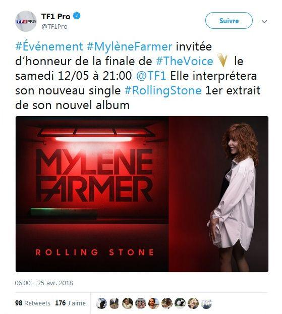 Mylène Farmer : Invitée d'honneur de la finale de The Voice !