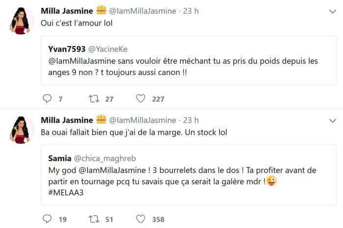 Milla Jasmine : Elle répond aux remarques sur sa prise de poids
