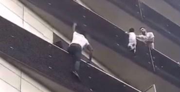 Paris : Un homme grimpe un immeuble à mains nues et sauve un enfant d'une chute potentiellement mortelle