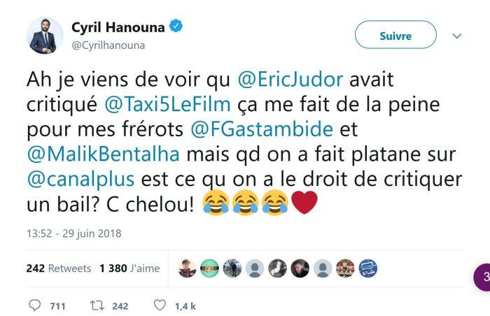 Cyril Hanouna tacle Eric Judor et s'attire les foudres des internautes !