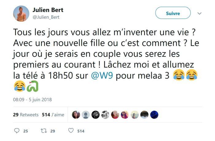 Julien Bert : En couple avec Camille Froment? Il répond enfin !