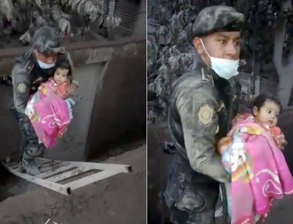 Guatemala : l'émouvante vidéo d'un bébé sauvé des décombres
