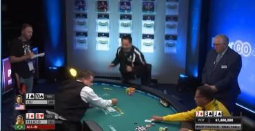 Poker : Un joueur célèbre sa victoire un peu trop vite et perd 1 million de dollars
