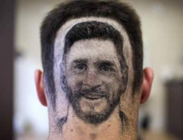 Et si votre coiffeur vous dessinait Lionel Messi sur la tête ?