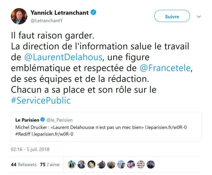 Michel Drucker recadré par France Télévisions après ses propos sur Laurent Delahousse