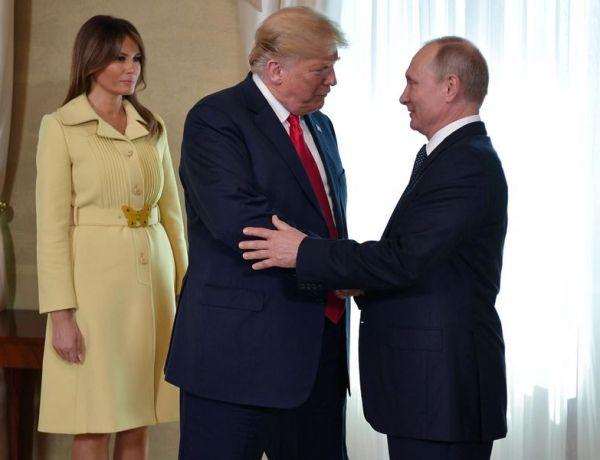 Mais qu'est-il arrivé à Melania Trump après avoir serré la main de Poutine ?