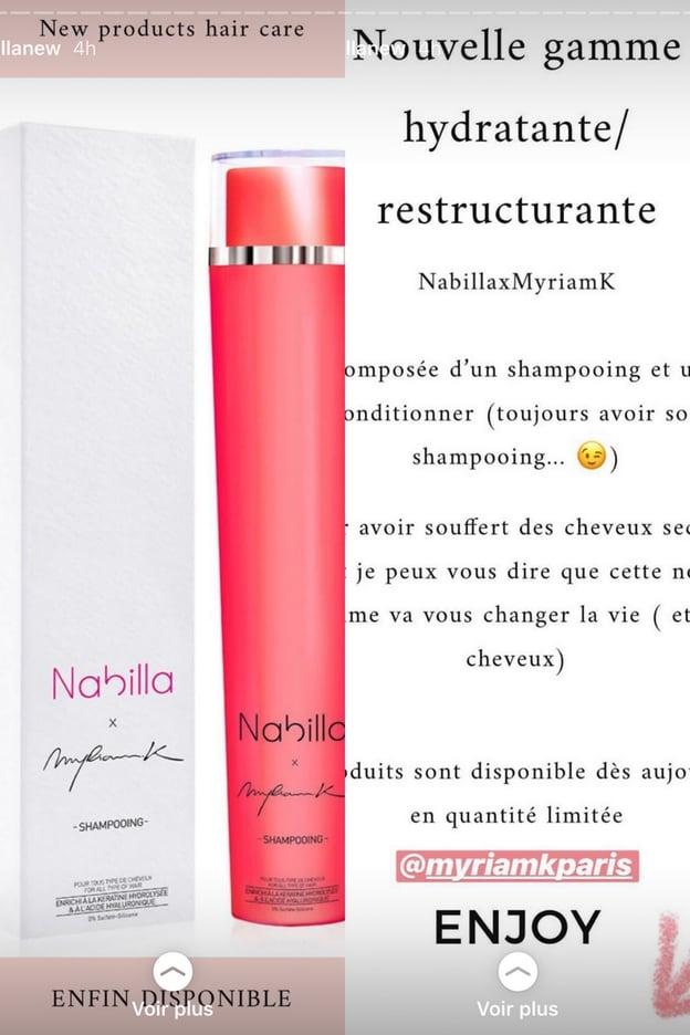 Nabilla Benattia lance son propre shampoing !