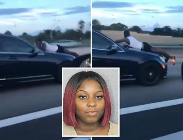 Etats-Unis : Une jeune femme circule à plus de 120 km/h avec son ex accroché au capot de la voiture !