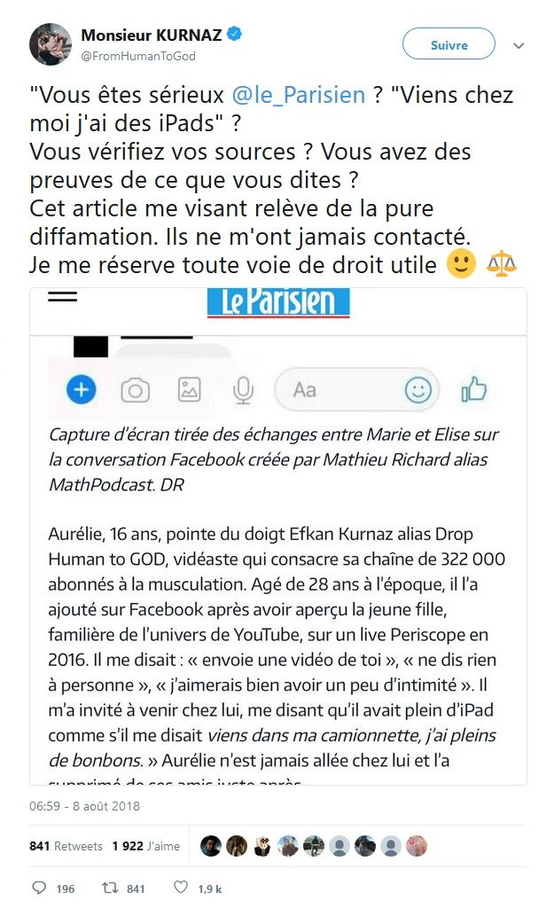 #BalanceTonYoutubeur : Le Parisien dévoile les noms ! Un Youtubeur sort du silence !