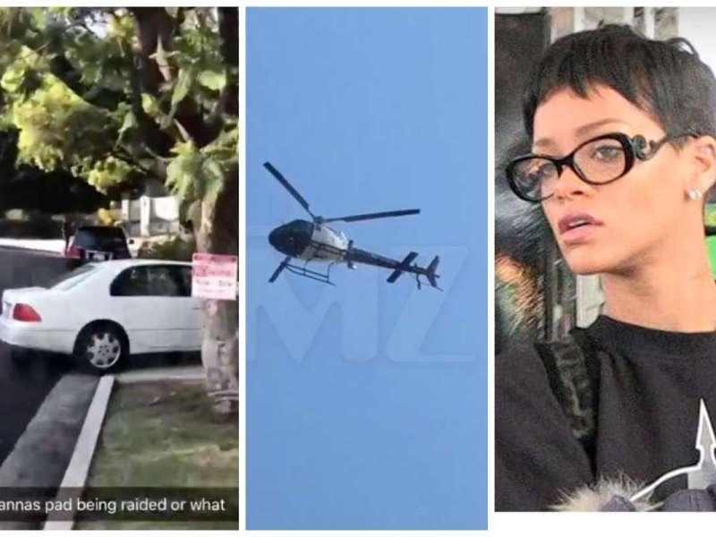 Rihanna : La police et un hélicoptère interviennent chez la chanteuse
