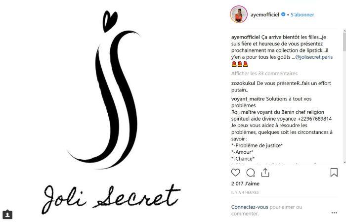 Ayem Nour se lance dans les cosmétiques !
