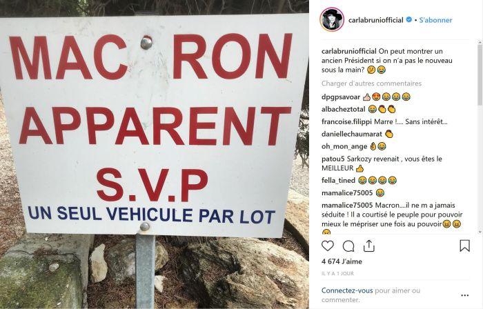 Emmanuel Macron : Moqué par Carla Bruni sur Instagram !