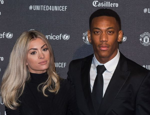 Mélanie Da Cruz prend la pose avec Anthony Martial