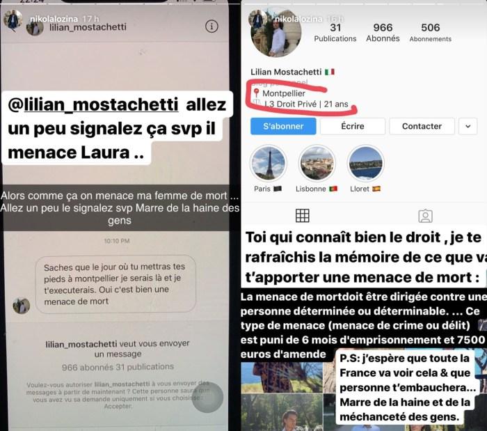 Laura Lempika menacée de mort : En colère, Nikola Lozina s'emporte !