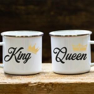 Hrnček plechový – King & Queen