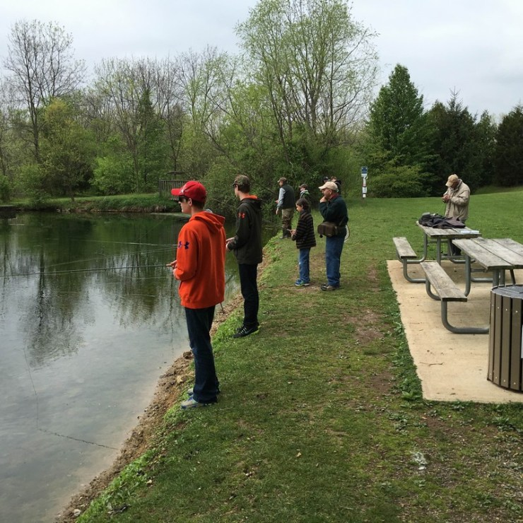 2016 youth fly fishing classes at Middletown park, Middletown, Maryland.