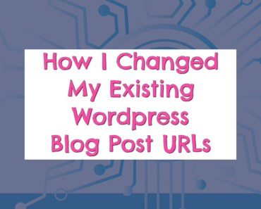 How to change blog post permalinks (blog post urls) the easy way without getting 404 errors.