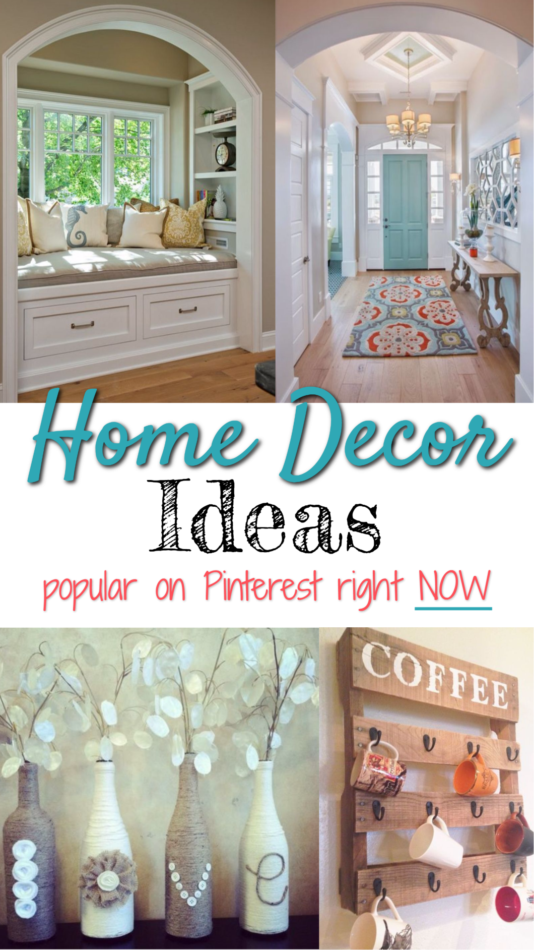 Going VIRAL on Pinterest right NOW - the most popular Home Decor pins on Pinterest with TONS of repins and crazy traffic.  If you're a blogger, these are great blog post ideas from @PotPieGirl