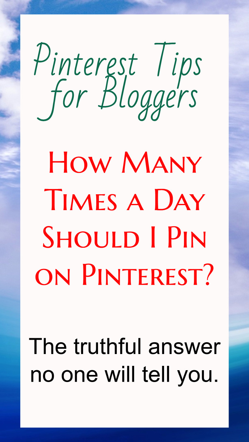 How many pins per day to get great traffic from Pinterest to your blog?  Here's the answer no one will tell you.  It's not about how MANY pins per day - it IS about THIS....