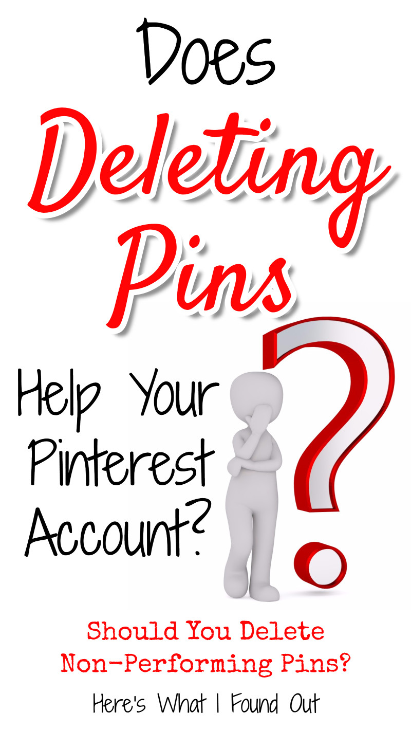 Should You DELETE Pins That Don't Get Repins?  Does Deleting Pinterest Pins Help?  here's what I found out (and YES, it surprised me too!). Pinterest marketing tips, get blog traffic with Pinterest, potpiegirl