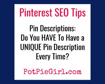 Conseils de référencement Pinterest pour plus de trafic sur les blogs - Conseils Pinterest pour les blogueurs de @potpiegirl