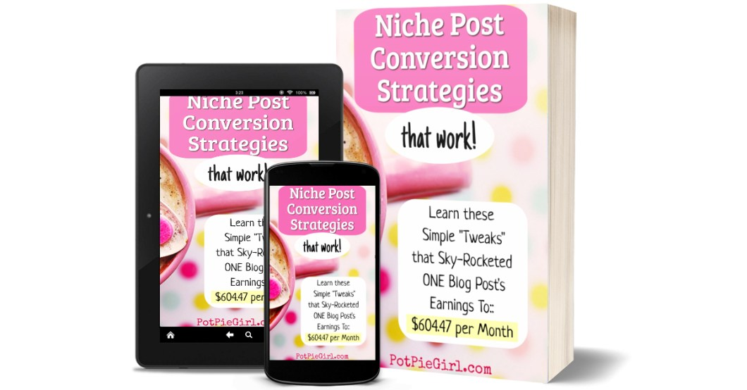 Blog Tips for Affiliate Marketing - Niche Post Conversion Strategies from PotPieGirl