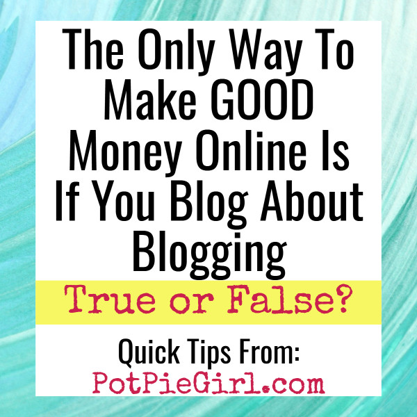 Blogging Tips: The Only Profitable Blogging Niche is to Blog About Blogging? True or False?