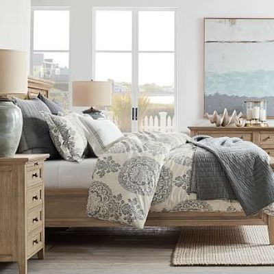 Cotton Silk Channel Quilt & Sham - Gray Mist