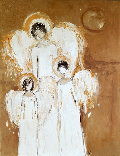 10149709_three angels painting white angels abstract canvas christmas angel decor for sale 0 - Christmas Angels For Sale