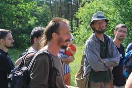 Tomáš Zděblo (vlevo) a Standa Boček s kloboukem(vpravo)
