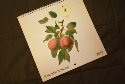 Kalendář hojnost 2018, #naovoce