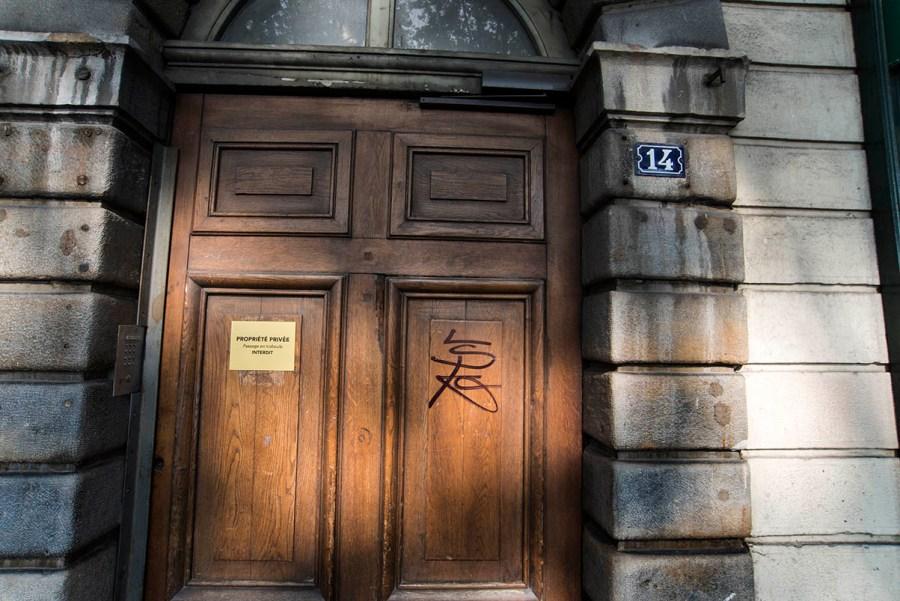 「トラブールの入り口(立ち入り禁止)#01」  (リヨン・フランス)