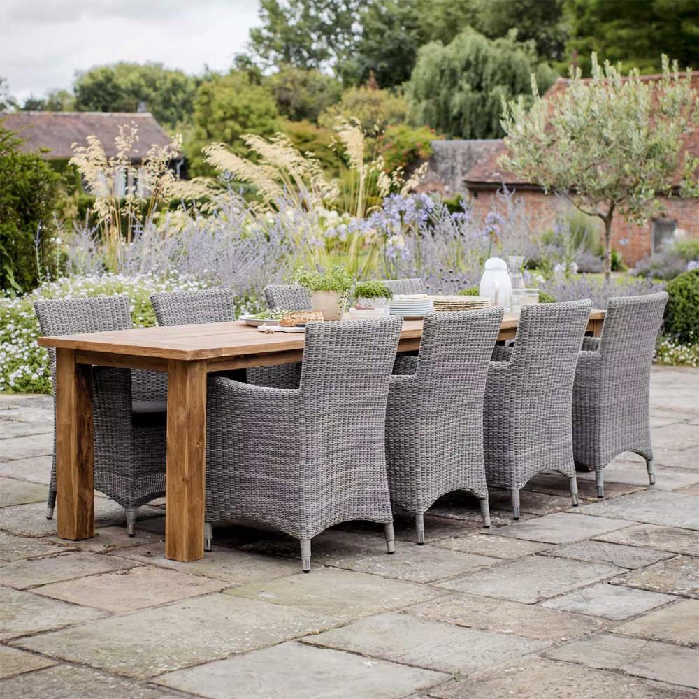 grande table de jardin en teck 10 personnes