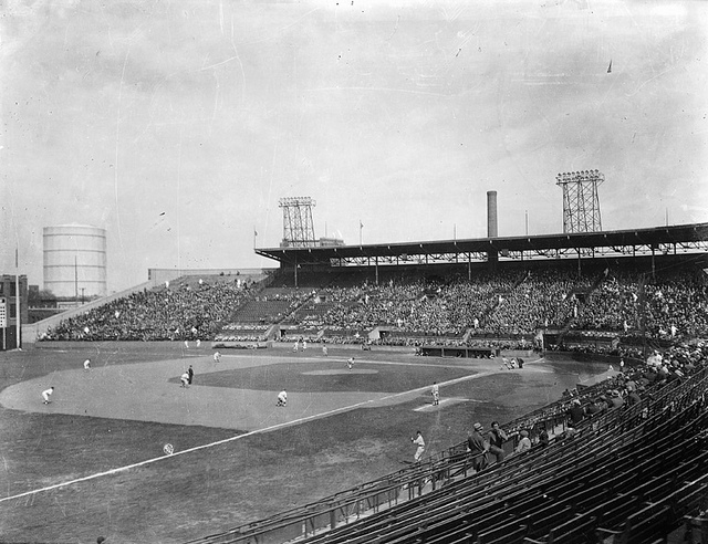 Baseball game at Delorimier Park, Montreal, QC, about 1933