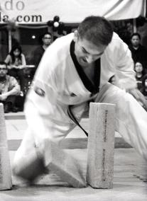 Concrete block break during Black Belt Graduation ceremony