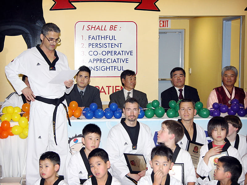 achievement of black belt and what it means to me al poullis reading my essay at the end of the ceremony